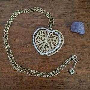 Jessica Simpson Peaceful Heart Statement Necklace